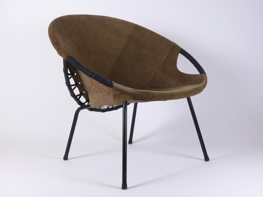 Mid century suede chair wildleder cocktail sessel ebay for Sessel wildleder